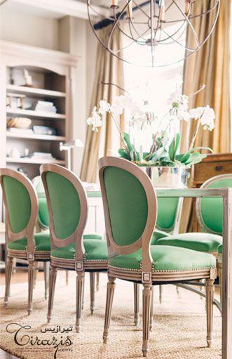 رنگ سبز در طراحی فضای نهارخوری