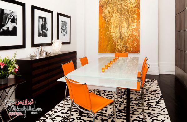 رنگ نارنجی در دکوراسیون