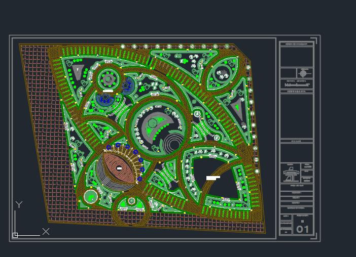 پروژه اتوکد پارک