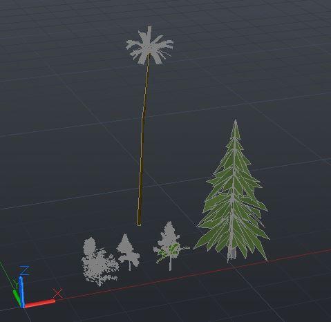 مدل های سه بعدی اتوکد درخت