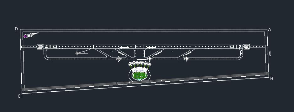 طراحی سه بعدی سایت پلان فرودگاه