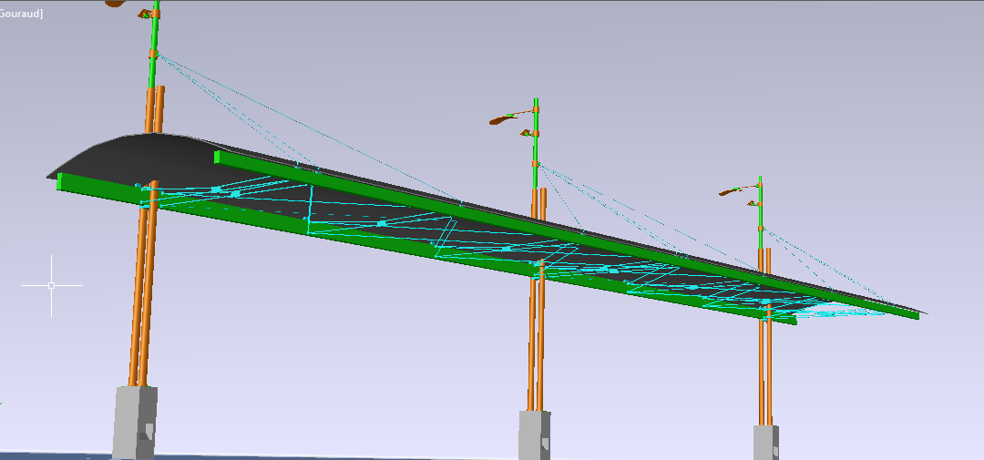 طراحی سایبان مسیر پیاده