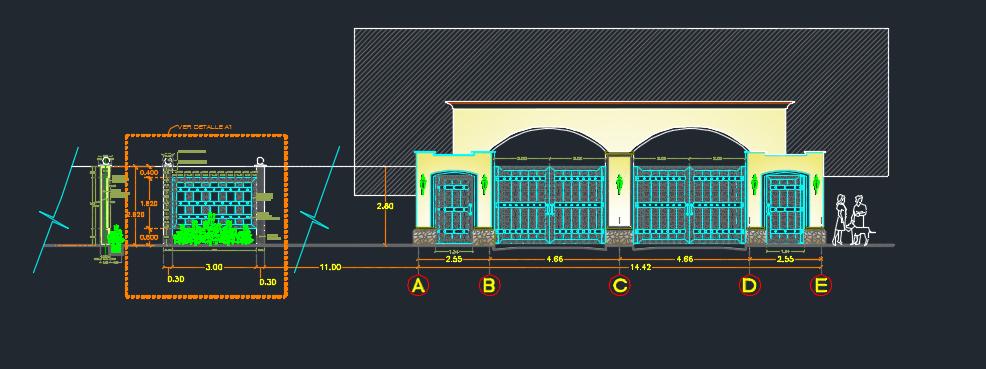 طراحی سردر ورودی سنتی