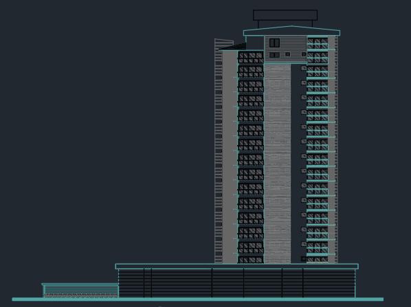 دانلود پروژه اتوکد برج اداری