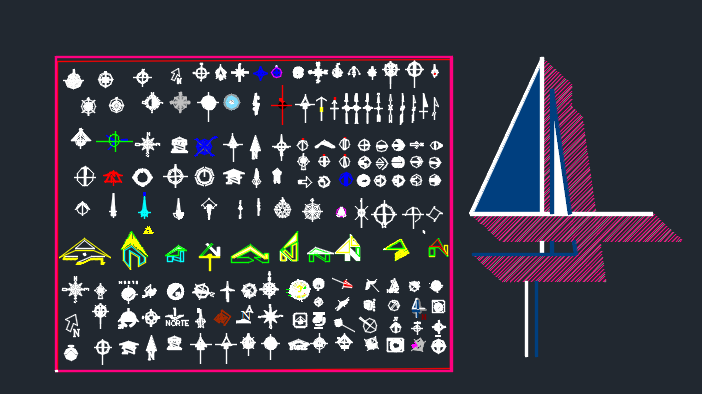 دانلود نقشه مجموعه کامل علامت شمال
