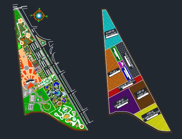 دانلود پروژه اتوکد طراحی پارک